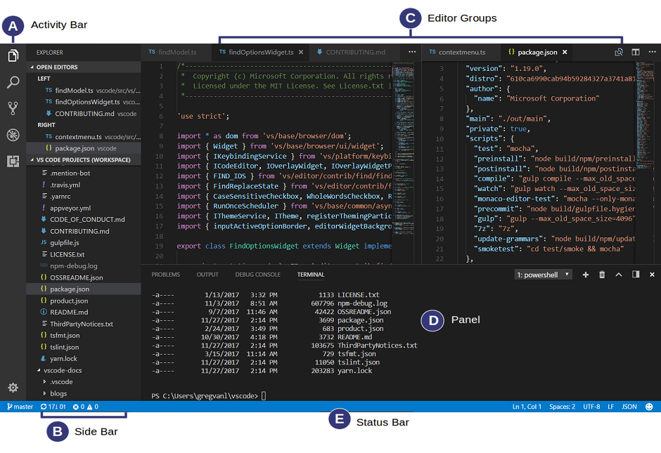Using Visual Studio Code