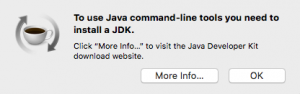 Eclipse JDK installation prompt