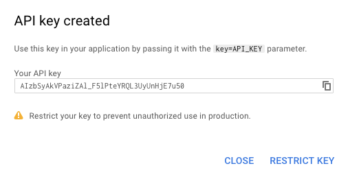 Google API Key Restrict